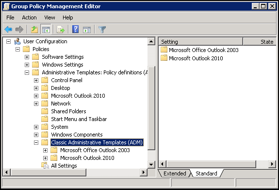 How to edit administrative template policy settings in windows.