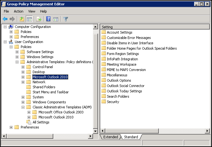 adding administrative templates for gpo
