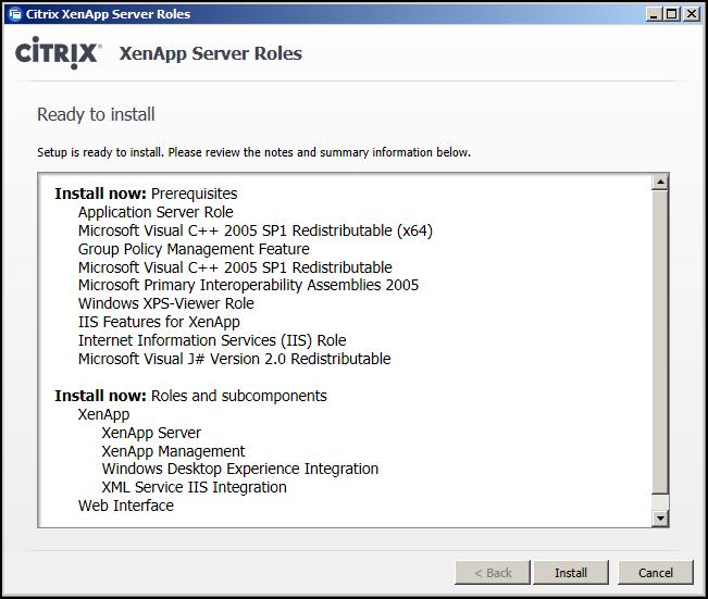 Install And Configure Citrix XenApp 6.5