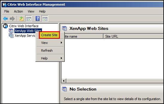 Configure Web Interface for Citrix XenApp 6 5